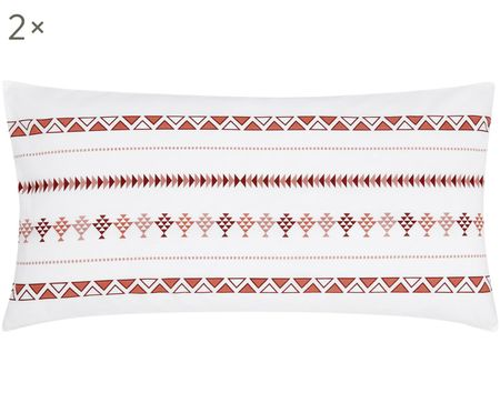 Perkal-Kissenbezüge Indira im Boho Style, 2 Stück