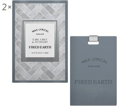 Geurkaarten Fired Earth, 2 stuks (earl grey & vetiver)