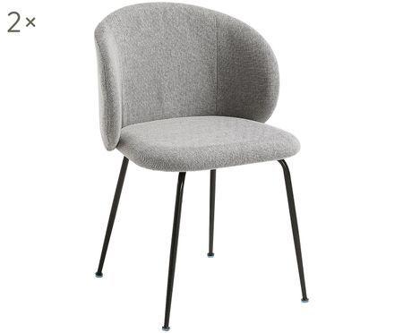 Gestoffeerde stoelen Minna, 2 stuks