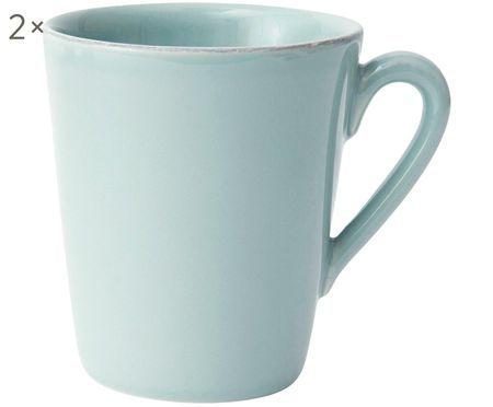 Tassen Constance in Mint, 2 Stück