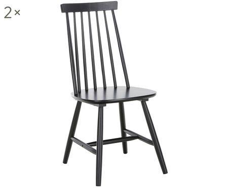 Krzesło z drewna Milas, 2 szt.