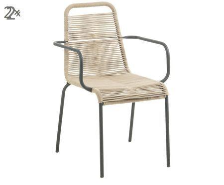 Sedia con braccioli  Lambton 2 pz
