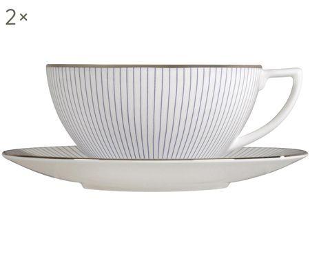 Set tazze da tè Pin Stripe, 4 pz.