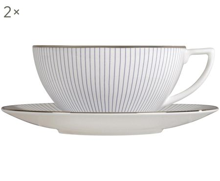 Teetassen-Set Pin Stripe, 4-tlg.