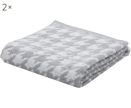 Handtücher Shapes mit Hahnentritt-Muster, 2 Stück