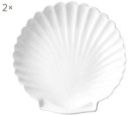 Speiseteller Shell, 2 Stück