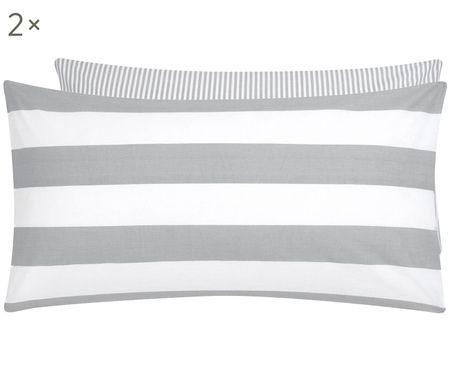 Oboustranný pruhovaný povlak na polštář z bavlny renforcé Lorena, 2 ks
