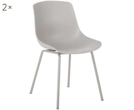 Krzesło z tworzywa sztucznego Joe, 2 szt.