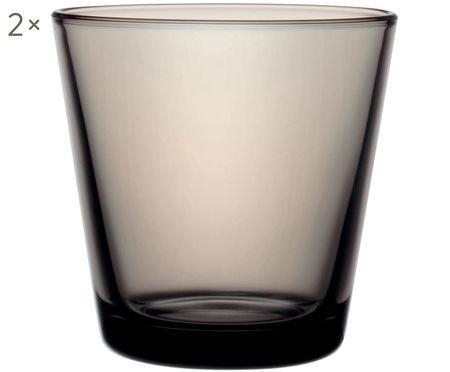 Kleine Wassergläser Kartio in Grau, 2er-Set