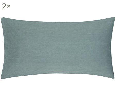 Gewaschene Baumwoll-Kissenbezüge Arlene mit Stehsaum, 2 Stück