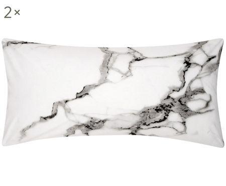 Perkal-Kissenbezüge Malin mit Marmor Muster, 2 Stück