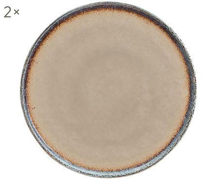 Assiettes plates Nomimono, 2 pièces