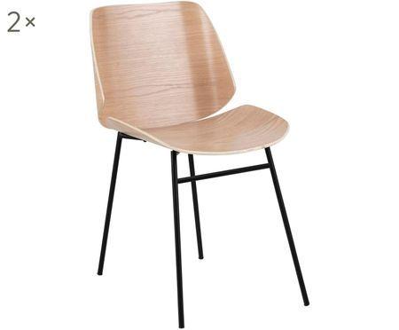 Houten stoelen Aks, 2 stuks