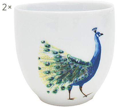 Becher Peacock mit Pfaumotiv, 2 Stück