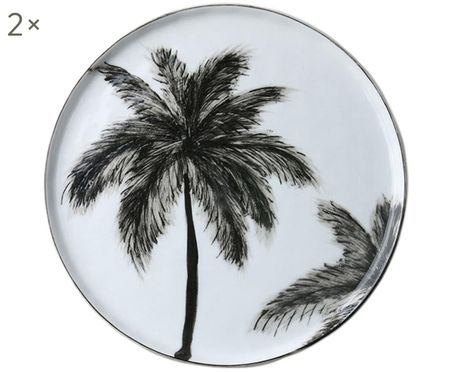 Frühstücksteller Palms, 2 Stück