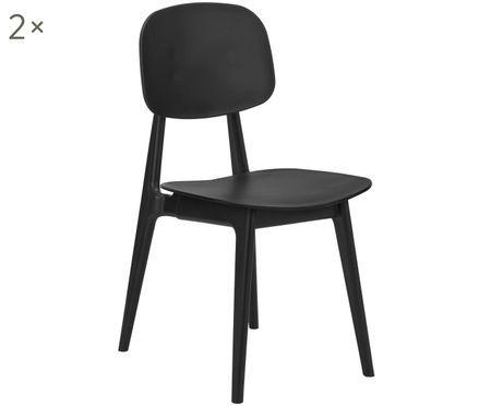 Chaises en plastique Smilla, 2 pièces