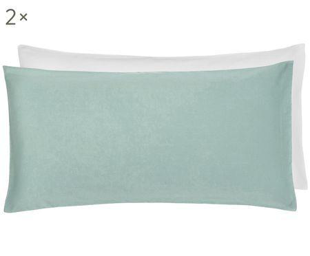 Dwustronna poszewka na poduszkę z satyny bawełnianej Julia, 2 szt.