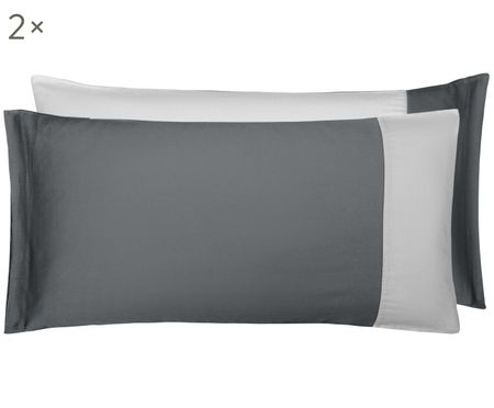 Dwustronna poszewka na poduszkę z satyny bawełnianej Amelia, 2 szt.