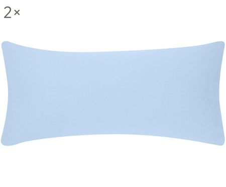 Flanell-Kissenbezüge Biba in Hellblau, 2 Stück