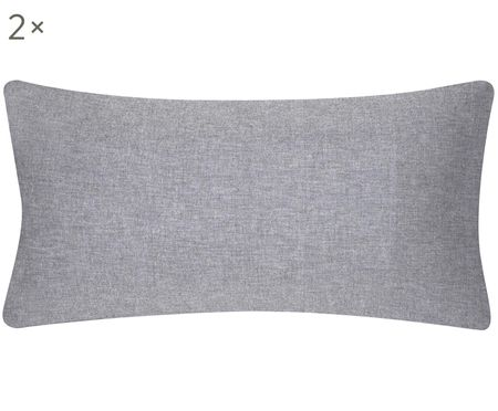 Kissenbezüge Cashmere in Grau, 2 Stück