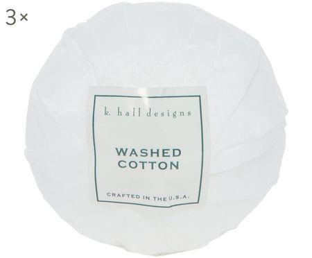 Badekugeln Washed Cotton, 3 Stück (Lavendel & Kamille)