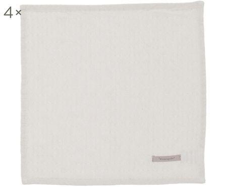 Serviettes de table Blanc, 4pièces