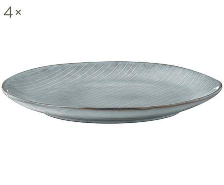 Ręcznie wykonany talerz śniadaniowy Nordic Sea, 4 szt.