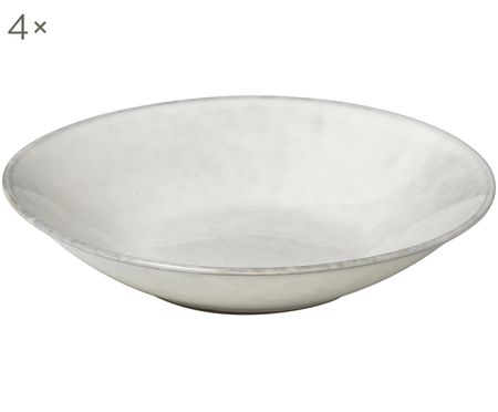 Handgemachte Suppenteller Nordic Sand, 4 Stück