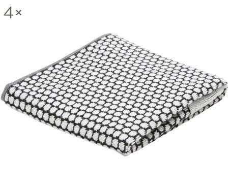Ręcznik dla gości Grid, 4 szt.