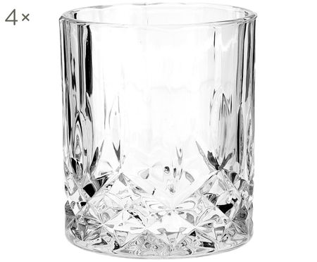 Vasos old fashioned de cristal George, 4 uds.