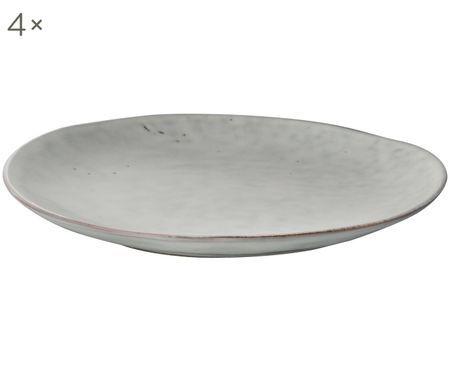 Handgemachte Frühstücksteller Nordic Sand, 4 Stück