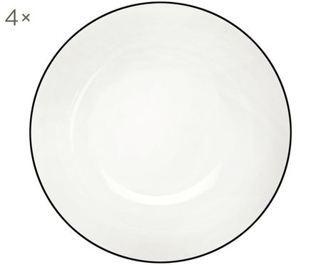 Dessertteller á table ligne noir, 4 Stück