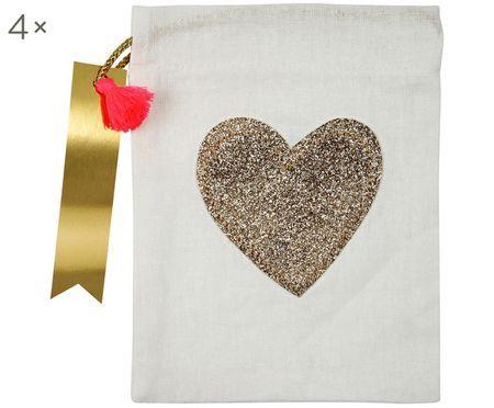 Geschenktüte Heart, 4 Stück