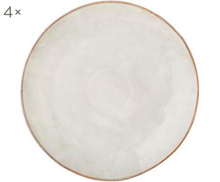 Handgefertigte Platzteller Nordic Sand, 4 Stück
