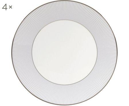 Frühstücksteller Pin Stripe, 4 Stück