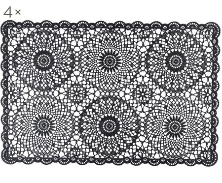 Kunststoff Tischset Crochet, 4 Stück