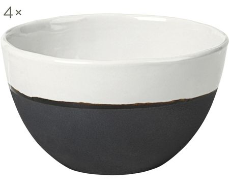 Handgemachte Schalen Esrum matt/glänzend, 4 Stück