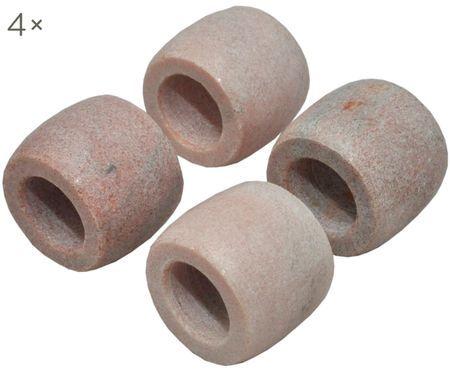 Marmor-Serviettenringe Makrana, 4 Stück