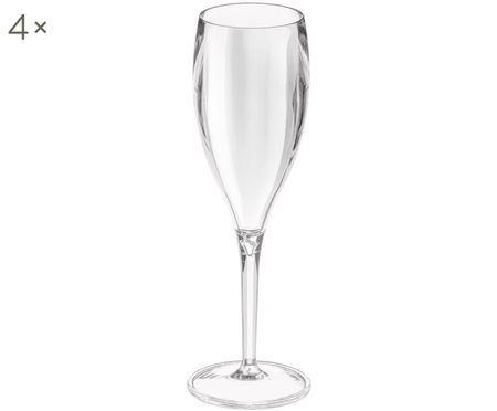Súprava nerozbitných plastových pohárov na šampanské Cheers, 4 ks.