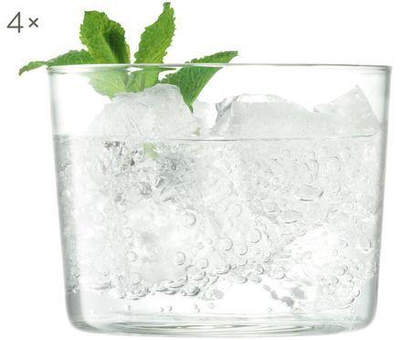 Mundgeblasene Wassergläser Gio, 4er-Set