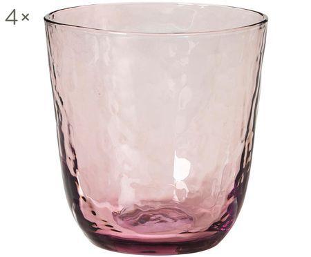 Mundgeblasene Wassergläser Hammered mit unebener Oberfläche, 4er-Set