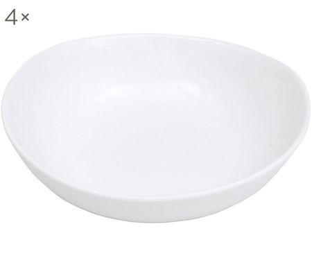 Schalen Porcelino mit unebener Oberfläche, 4 Stück