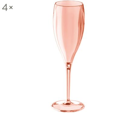 Bruchfeste Kunststoff-Sektgläser Cheers, 4er-Set