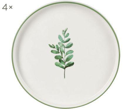 Frühstücksteller Eukalyptus, 4 Stück