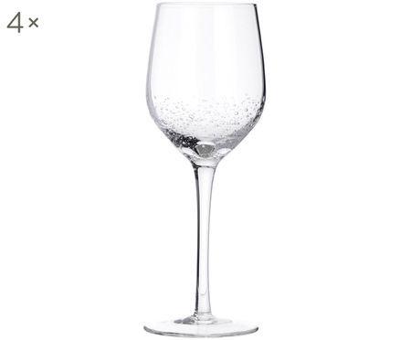 Mundgeblasene Weißweingläser Bubble, 4er-Set