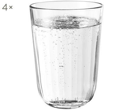 Verres à eau en verre trempé Facette, 4pièces