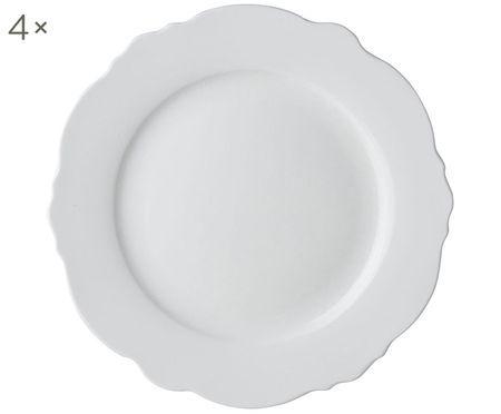 Assiettes plates coquillage Loft, 4 pièces