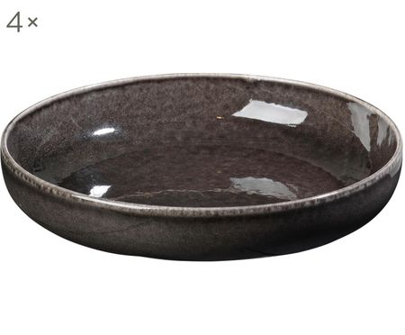 Ręcznie wykonana miska Nordic Coal, 4 szt.