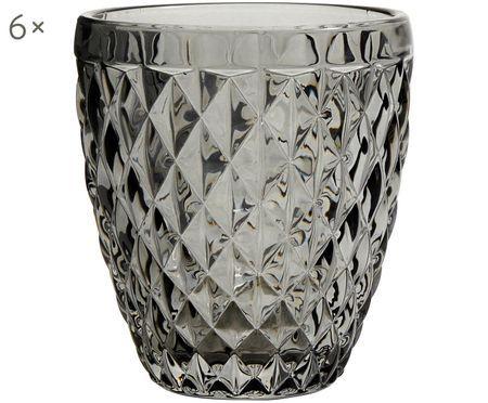 Wassergläser Diamond mit Strukturmuster, 6er-Set