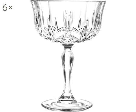 Coupes à champagne en cristal Opera, 6pièces